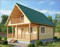 Small Log Cabin, Tiny House Cabin, Log Cabin Homes, Tiny House Plans, Bamboo House Design, Small House Design, Log Cabin Floor Plans, Build Your Own House, House Illustration
