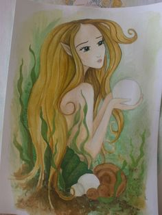 """Pearl"""" ....colouring some more ... not finished yet Colouring, Disney Characters, Fictional Characters, Aurora Sleeping Beauty, Pearls, Disney Princess, Artwork, Color, Colour"""