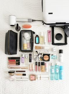 Travel Beauty Packing The Beauty Look Book Packing Tips For Vacation, Travel Packing, Travel Luggage, Travel Bags, Suitcase Packing, Vacation Travel, Travel Backpack, Travel 2017, Europe Packing