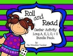 Long Vowels Roll and Read Games: Long A, E, I, O, and U Words and Nonsense Words ~ This file contains 15 game boards: three game boards each for Long A, E, I, O, and U words. Grades K-2 ~ The Vivacious Teacher