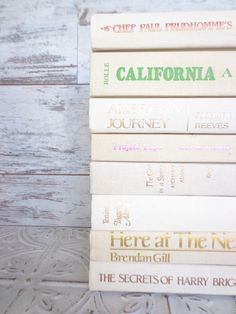 White Books Instant Library Collection Vintage by sorrythankyou79, $48.00