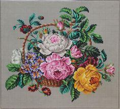 Антикварный Берлин вручную-окрашенный Woolwork график 19-го века. по Sajou в Париже | ибее