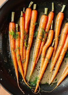 Diane Morgan's Baby Carrots with Dill recipe. When we decided to devote a week to carrots during our month of Glorious Vegetables, I went hunting for just one pure and perfect carrot recipe Brisket Side Dishes, Brisket Sides, Brisket Meat, Dill Recipes, Recipies, Vegan Recipes, Herb Recipes, Spinach Recipes, Lunch Recipes