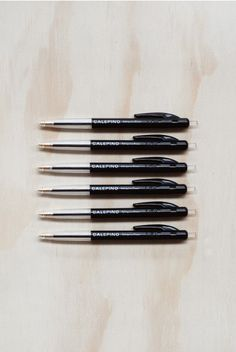 Calepino - Ballpoint Pens - Black - Set of 6