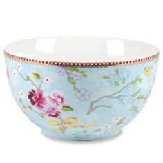Chinese Rose Blue Bowl Set of 2 PIP51003005