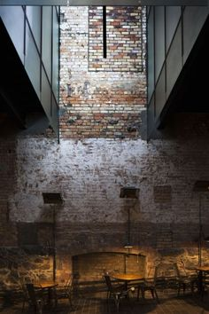 I love this moment. there's just something about brick juxtaposed against modern materials that transforms the space | The Imperial Buildings / Fearon Hay Architects