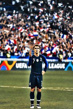 Antoine Griezmann, France National Football Team, France National Team, Football Neymar, Ronaldo, Real Madrid Captain, France Team, Football Fashion, Nike Soccer