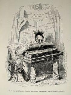Le bibliomane vu par J.-J. Grandville.