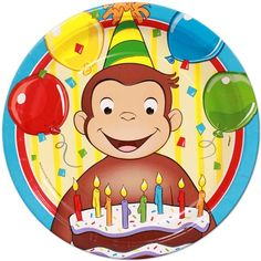 Black Friday Deal Curious George Large Paper Plates (8ct) from Unique Industries Cyber Monday