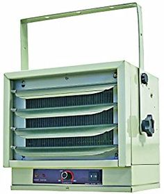 Comfort Zone CZ220 Industrial Steel Electric Ceiling Mount Heater, 3 Heat Levels up to 5,000 watts, White