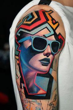 Top 42 Best Pop Art Tattoo Designs For Men & Women- 2020 - Page 9 of 41 - tracesofmybody . Pop Art Tattoos, Black Tattoos, Vintage Pop Art, Tattoos For Women, Woman Tattoos, Work Images, Tattoo Spirit, Retro Pop, Tattoo Designs Men