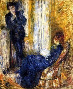 By the Fireside / Pierre Auguste Renoir - 1875