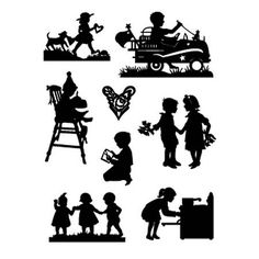 silhouettes (Cricut cartridge - A Child's year) - every holiday.