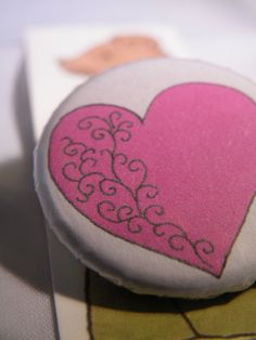 Heart Button Badge by LittlemouseLilly on Etsy, £1.00