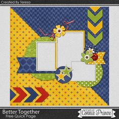Free Quick Page created by Teresa using Better Together available at… School Scrapbook Layouts, Love Scrapbook, Album Scrapbook, Scrapbook Borders, Papel Scrapbook, Scrapbook Layout Sketches, Scrapbook Templates, Scrapbook Designs, Scrapbook Embellishments
