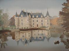 """Michel Delacroix """"Azay le Rideau"""" Art Poster"""