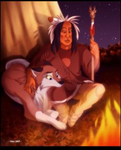 Alternate life for Aleu by Oha on DeviantArt Cartoon Wolf, Cartoon As Anime, Cute Wolf Drawings, Animal Drawings, Disney Dogs, Disney Art, Balto Film, Balto And Jenna, Disney Characters Pictures