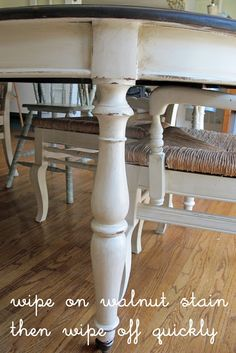 DIY French Country Decor: Glazed Creamy Painted Dining Set - Tutorial from  Sew Country Chick
