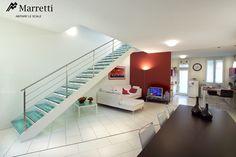 Treppe mit Leiste in Lackiertem Eisen, Innentreppen by Marretti Made in Italy