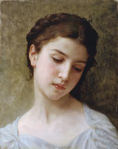 William Adolphe Bouguereau - Head of A Young Girl