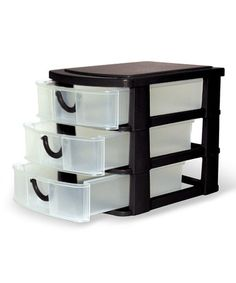 Love this Black Three-Drawer Mini Organizer by Home Collections on #zulily! #zulilyfinds