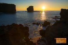 Beautiful Sunrise at Puu Pehe (Sweetheart Rock) — Lanai Hawaii