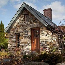 Incroyable Beautifully Detailed With A Brick Chimney, Tall Multi Pane Windows And An  Inviting Wooden Door. Perhaps Cottage Style Guest House?