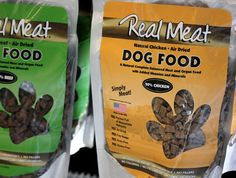 Real Meat:  90% MEAT AIR DRIED Dog FOOD  These diets make a great alternative to raw and frozen diets: easy to travel with, easy to serve and always ready!  Can be fed as is or mixed with water for improved hydration.  Makes a great treat too!