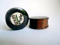Real flower 'lucky heather' sono wood organic plugs