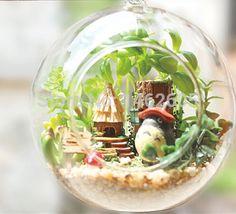 Aliexpress.comの から の中のとなりのトトロチャイムガラス吊り下げ図diyterarium自宅の庭の装飾