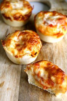 mini lasagna/pizza muffs...bite size for kids