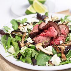 Steak Salad with Goat Cheese and Shiitake Mushrooms — living with aloha