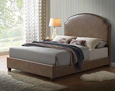 Global Furniture 8372 ABC-KB Bed, Blanche Walnut, King