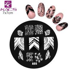 Una Serie A55 Beauty Nail Art Polacco DIY Che Timbra Piatti Modelli Nail Stamp Stencil stamping piatti Immagine del chiodo per la nail