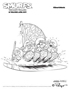 Add all your favorite colors to this Smurfs adventure! Smurfette and her friends race down the river at thrilling speeds in search of a long lost secret in SMURFS: THE LOST VILLAGE, in theaters on April 7. #SmurfsMovie | Find free printable coloring pages under the Fun & Activities tab at SmurfsMovie.com!