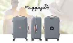 La valise connectée Pluggage http://www.leblogdomotique.fr/objet-connecte/la-valise-connectee-pluggage-1283 #Pluggage #valise #Delsey