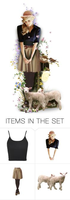 """""""Happy April ,Dear Friends!"""" by mari-777 ❤ liked on Polyvore featuring art, Spring, doll, sweet and april"""