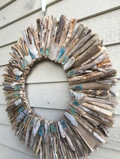 26 Premium Driftwood Wreath with Sea Glass by SaltyGirlandLongDog