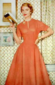 Fashion for Glamour magazine, 1954