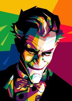 joker WPAP Art Print by miqfar khariri - X-Small Pop Art Portraits, Portrait Art, Illustration Pop Art, Joker Drawings, Monster Concept Art, Pop Art Posters, Joker Art, Diy Canvas Art, Jokers