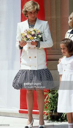 Princess Diana In Cannes Wearing A Puffball Skirt