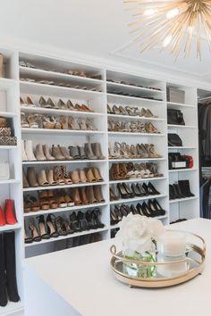 Garage Shoe Storage, Closet Storage Systems, Shoe Storage Solutions, Shoe Storage Ideas Bedroom, Shoe Closet Organization, Closet Ideas, Bedroom Closet Design, Master Bedroom Closet, Closet Designs