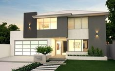 Modern Home Design with 2 Floor. Zillow Digs is a new home improvement hub. Check it out for tons of home design ideas and professionals. Home Design Images, House Design Photos, My Home Design, Cool House Designs, Design Ideas, Design Room, Minimalist House Design, Minimalist Home, Modern House Design