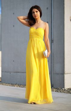 Yellow Maxi Chiffon Dress |special Evening Dress #lady_like #maxi #mini #fashion #women #jaglady #femininity #chic #elegant #vintage #lace #boho #business #homecoming #readytowear #catwalk #model #redcarpet #runway #vintage #boots #high_heels #nyfw