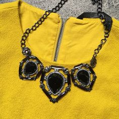 Black statement necklace In great condition no missing stones. Similar to Zara Zara Jewelry Necklaces
