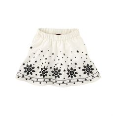 Schnee-Engel Embroidered Skirt | This skirt has a frosted trim that some might say was kissed by a Schnee-Engel (snow angel).