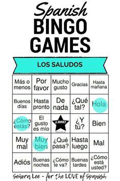Spanish Greetings Bingo and Vocabulary List Middle School Spanish, Elementary Spanish, Spanish Classroom, Spanish Teacher, Spanish Teaching Resources, Spanish Activities, Spanish Games, Spanish Worksheets, Kindergarten Worksheets
