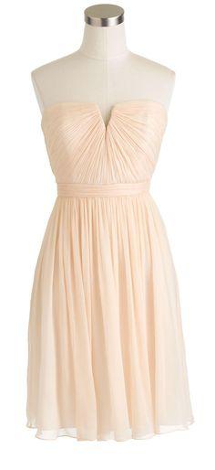 Blush chiffon dress