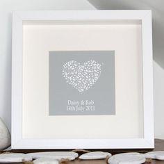 Personalised Wedding Anniversary Canvas Print