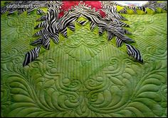 greenquilt2 by Carla's Feathered Fibers, via Flickr